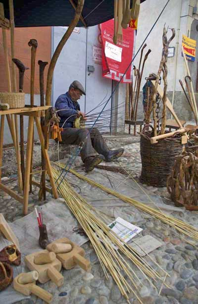 wicker weaving at a local fair